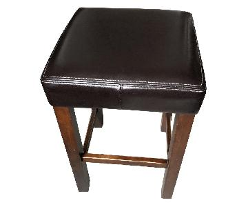 Counter Height Faux Leather Stools