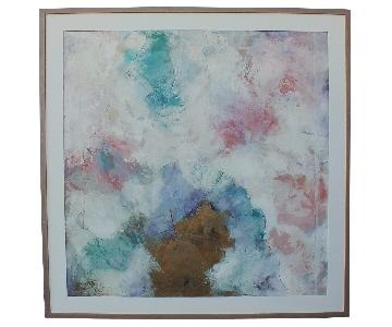 X-Large Mid-Century Abstract Oil on Canvas