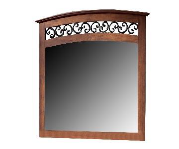 Ashley Timberline Mirror in Cherry