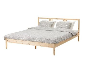 Ikea Fjellse Bed Frame w/ Lonset Slatted Base