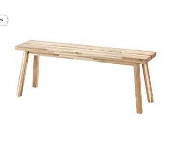 Ikea Skogsta Wooden Bench