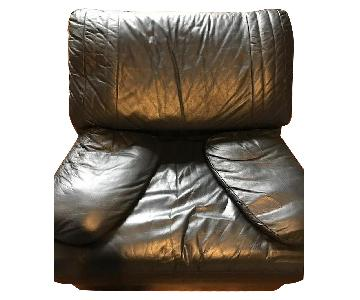 Natuzzi Italian Leather Arm Chair