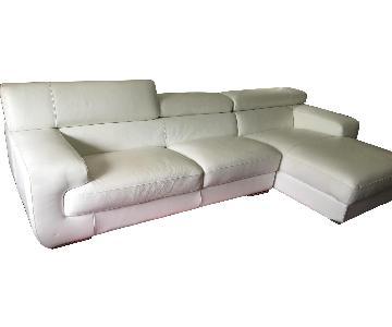 Italian Leather 2-Piece Sectional Sofa