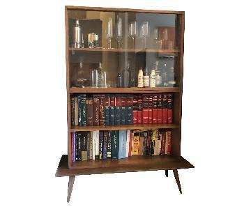 Paul McCobb Glass Hutch & Book Shelf