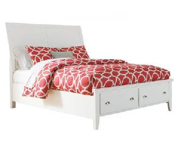 Jennifer Convertibles Langlor Queen Storage Bed