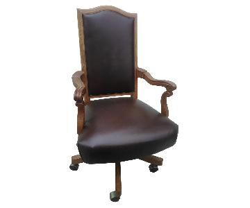 Stanley Furniture Leather Office Chair