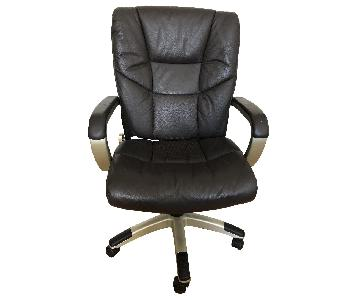 Sealy Posturepedic Desk Chair in Brown Leather