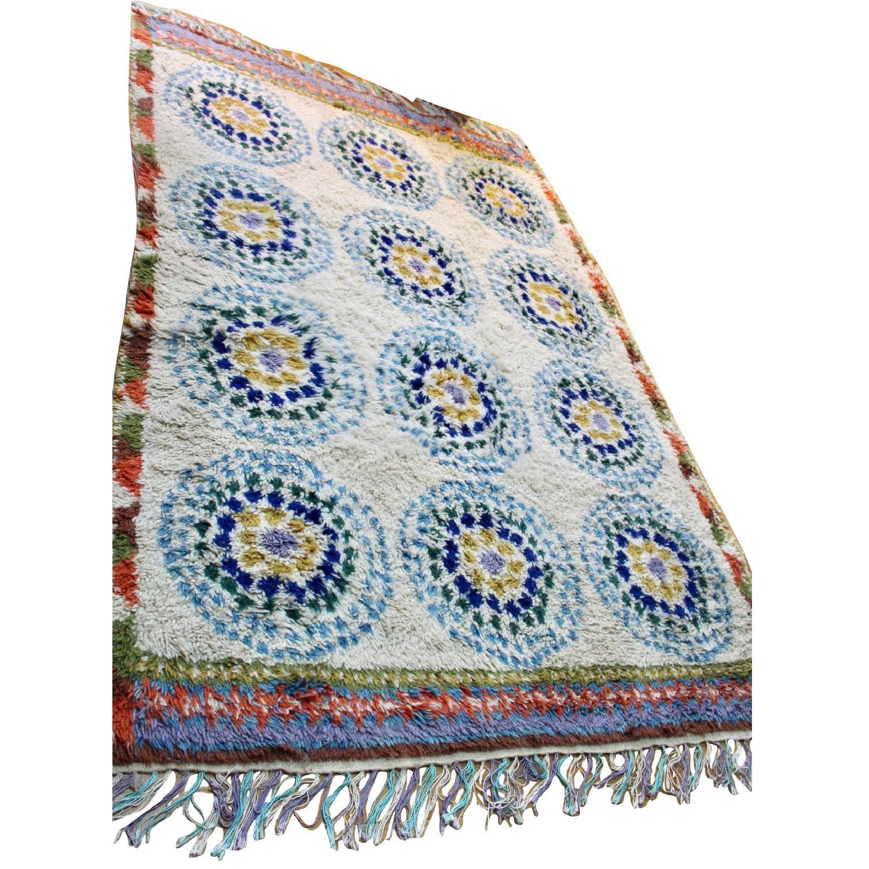 Anthropologie Finnia Rug: Anthropologie Moroccan Shag Multicolor Rug