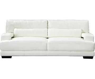 Raymore & Flannigan Off White Leather Sofas