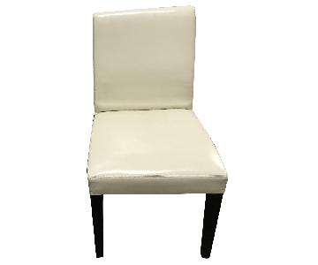 Off-White Leather Chairs