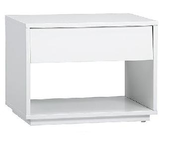CB2 Shake White Lacquer Nightstands