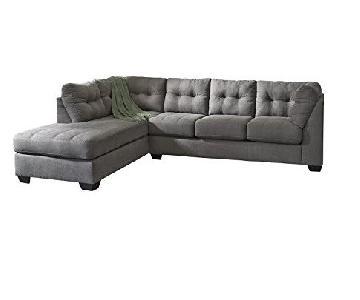 Ashley Olive Green Sleeper Sectional Sofa