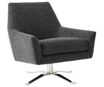 West Elm Lucas Swivel Chairs
