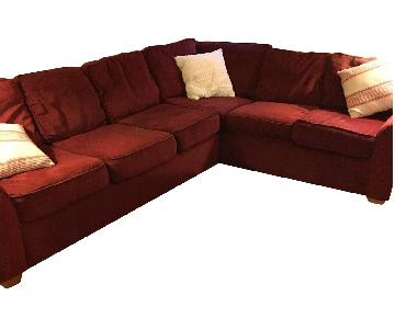 Klaussner Furniture Chenille Sectional Sofa