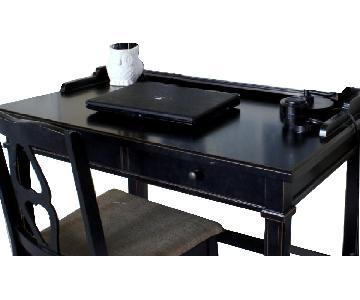 Crate & Barrel Black Wood Desk