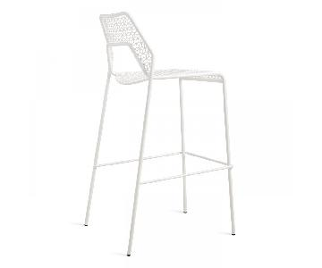 Blu Dot Off White Mesh Barstools