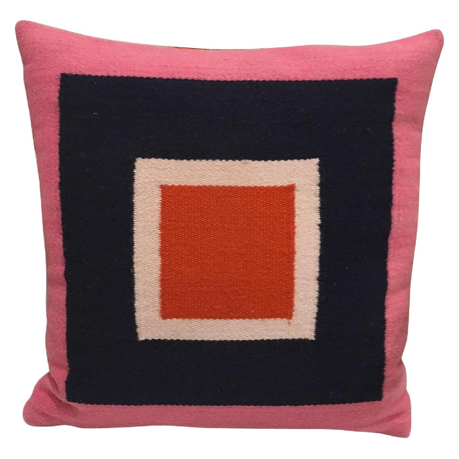 modern orange rug style in oriental pillows throw with pillow blue and