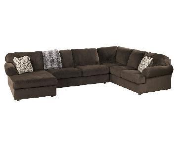 Ashley Signature Design 3 Piece Microfiber Sectional Sofa