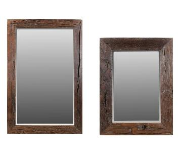 Malcom Wall Sleeper Wood Mirrors