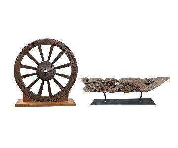 Decorative Wheel & Narju Set
