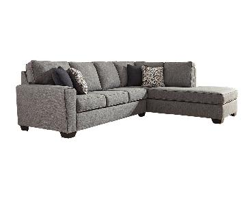 Ashley Larusi 2-Piece Sectional in Dark Grey