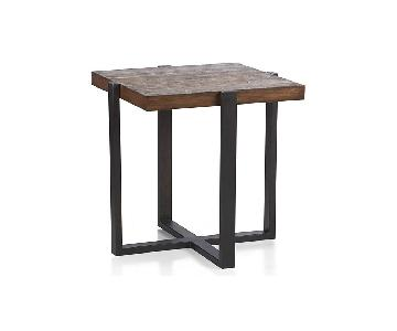 Crate & Barrel Lodge Square Side Table