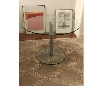 Jensen-Lewis Glass Round Dining Table