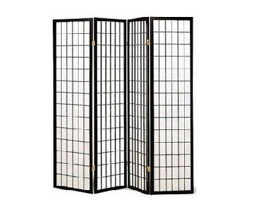Oriental Shoji 4 Panel Folding Privacy Screen Room Divider