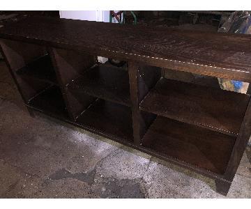 Ethan Allen Dark Wood Low Large Bookcase/Display