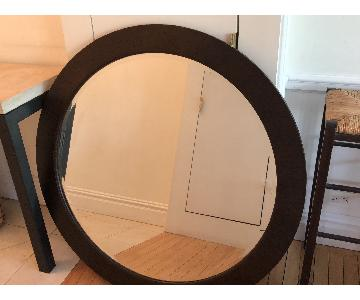 Ethan Allen Solid Wood Contemporary Wall Mirror