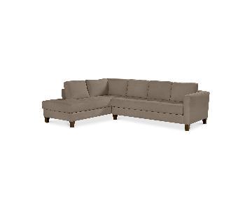 Macy's Rylee Fabric 2-Piece Sectional Sofa