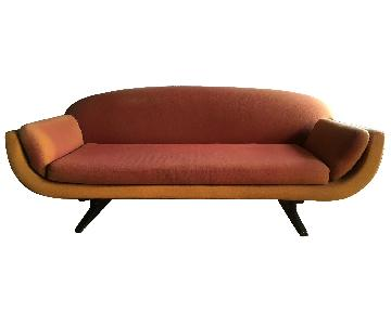 Red Upholstered Modern Sofa