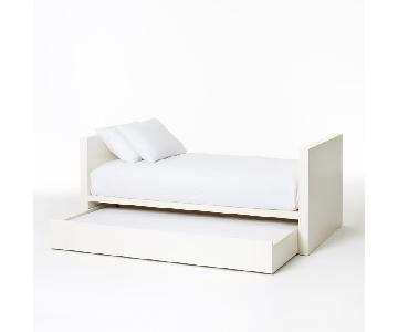 West Elm White Parsons DayBed w/ Trundle