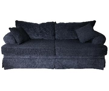Blue Slipcovered Sofa