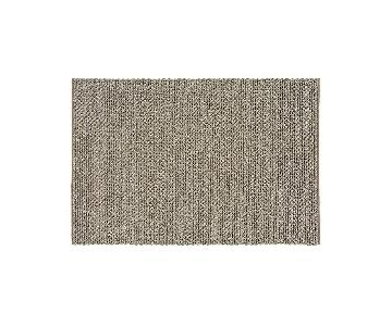 Crate & Barrel Yvonne Gray Wool Area Rug