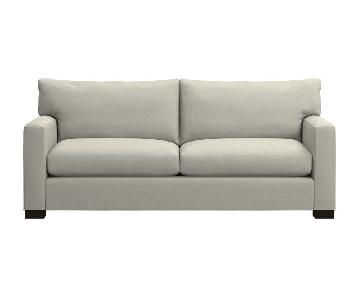 Crate & Barrel Axis II Grey Fabric 2 Seater Sofa