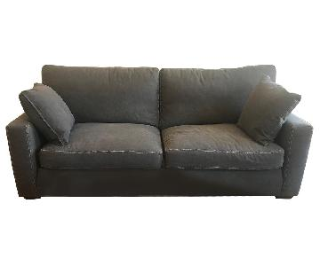 ABC Carpet & Home Klaussner Grey Fabric Sofa