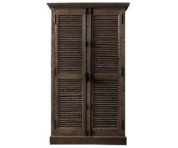 Restoration Hardware Shutter Double-Door Cabinet