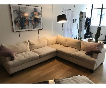 Pearce 3-Piece L Shape Sectional Sofa in Off-White
