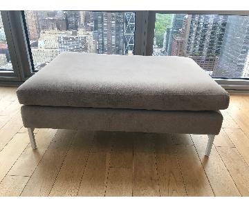 ABC Carpet and Home Cobble Hill Ottoman in Taupe