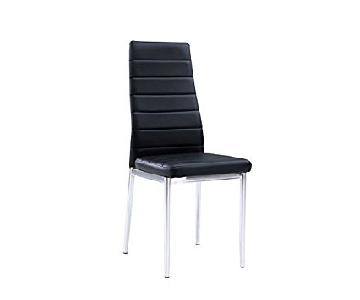 Global Furniture Ergo Style Black Faux Leather Dining Chairs