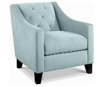 Macy's Chloe Sea Foam Green Armchair