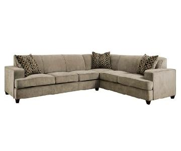 Darby Home Caswell Sleeper Sectional Sofa