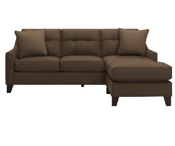 Raymour & Flanigan Crosby Sectional Sofa w/ Chaise