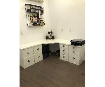 Ballard Designs Corner Desk in White