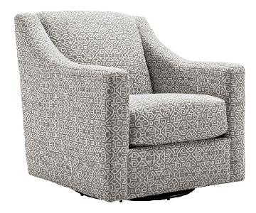 Raymour & Flanigan Anastasia Swivel Accent Chair w/ Pillows