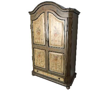 Hand Painted Wood Armoire
