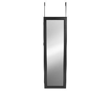 Storage Over the Door Jewelry Armoire w/ Mirror