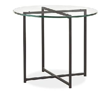 Room & Board Classic End Table in Natural Steel