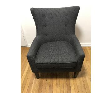 Raymour & Flanigan Cassia Wingback Accent Chair